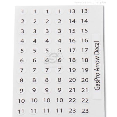 Plaquette de Numéros pour Flèches