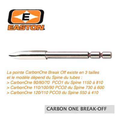 Pointes EASTON Break Off Carbon One