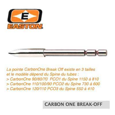 Pointes EASTON Break Off Carbon One